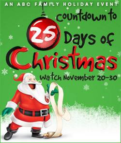 "ABC Family Kicks Off Its Annual ""Countdown to 25 Days Of Christmas"" on Wednesday, November 20, 2013"
