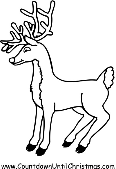 Color Rudolph the RedNosed Reindeer
