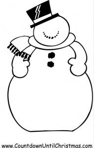 Color a Snowman