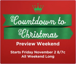 Hallmark Channels Countdown to Christmas Preview Weekend starts Friday, November 2, 2012 at 8pm