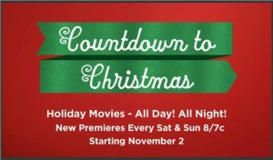 "Hallmark Channel unwraps it's 2013 ""COUNTDOWN TO CHRISTMAS"" which starts on November 2, 2013"