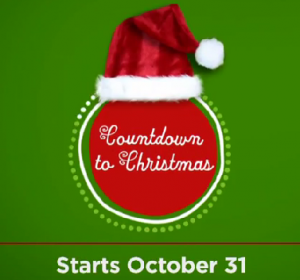 "Hallmark Channel's #1 Rated ""Countdown to Christmas"" begins October 31st 2014"