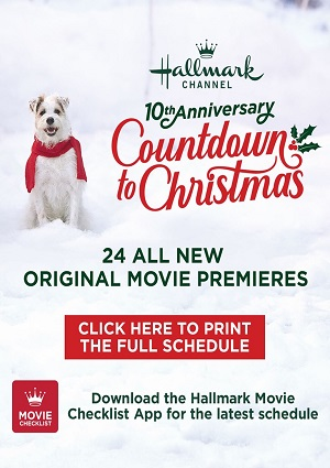image relating to Time Warner Cable Printable Channel Guide referred to as Hallmark Channel 2019 Countdown in the direction of Xmas Television Program