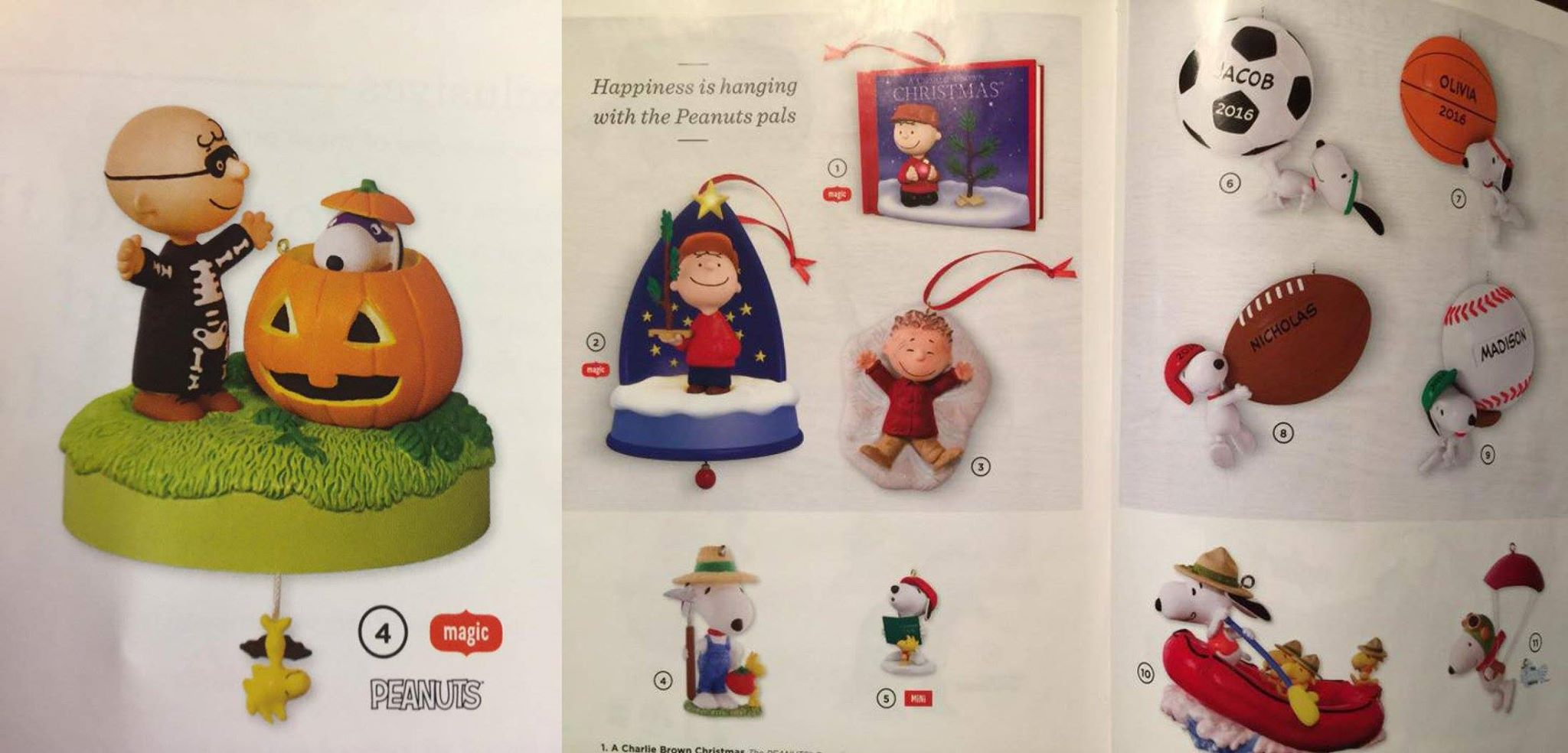 Hallmark 2016 Peanuts Christmas Ornaments Sneak Peek