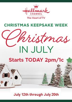 Christmas In July Hallmark 2019.Hallmark Channel S Keepsake Christmas Begins Friday July
